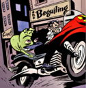Doop (Earth-616) and James Howlett (Earth-616) from Wolverine Doop Vol 1 1 0001.jpg