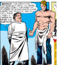 Steven Rogers (Earth-616) and Abraham Erskine (Earth-616) from Captain America Comics Vol 1 1 0001.jpg