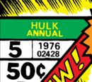 Incredible Hulk Annual Vol 1