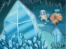 Ilustración de Squirtle y Vulpix en la cueva Cristal en MM.jpg