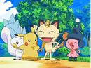 EP572 Meowth y Mime Jr. con Pikachu y Pachirisu.png
