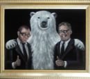 Damon, Carlton and a Polar Bear Art Samples