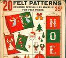 McCall's 20 Felt Patterns