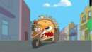 Candace clinging onto the chariot.png