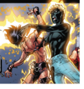 Joshua Foley (Earth-616) and Laura Kinney (Earth-616) from New X-Men Vol 2 31 0001.png
