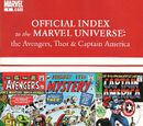 Avengers, Thor & Captain America: Official Index to the Marvel Universe Vol 1 1