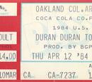 1984 - 12 April: Oakland, CA (USA)