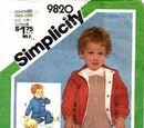 Simplicity 9820 A
