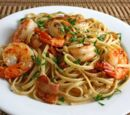 Shrimp & Red Pepper Pasta by Solflower