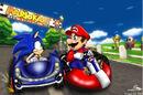 Mario Vs Sonic Racing by Dispo Fever.jpg