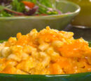 Paula Deen's Creamy Crock Pot Macaroni and Cheese, with different cheese options and Oven Directions.