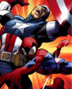 Steven Rogers (Earth-1610) and Peter Parker (Earth-1610) from Ultimate Spider-Man Vol 1 157 0001.jpg