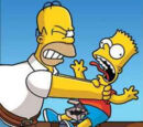 Homer Strangles Bart (or someone)