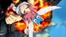 Natsu and Happy flying to the top.png