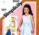 Simplicity 5950 A