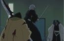 Reigai Isane protects Inaba from Mayuri.png