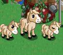 Cream Mini Horse