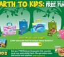 National Geographic Kids reusable meal bags and activity cards (Subway, 2011)
