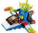 30070 Green Alien on Spaceship