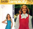 Simplicity 5418 A
