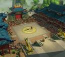 Arena del palacio