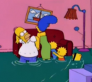 Swimming Family couch gag