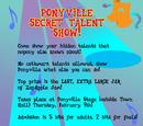 Ponyville Secret Talent Show
