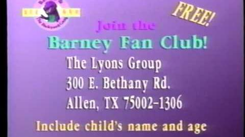Join the Barney and the Backyard Gang Fan Club