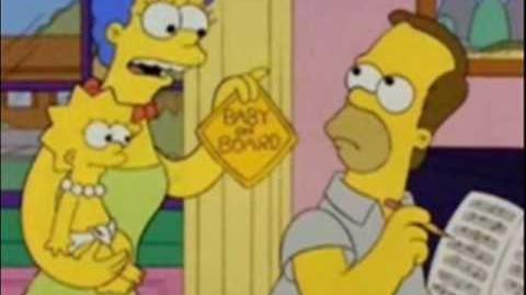 Baby on board (Bebé a bordo) - Los Simpson