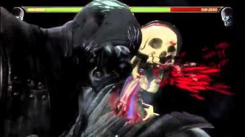 MK9 - Sub Zero 55% Damage X-RAY Midscreen Combo - Mortal Kombat 9 (2011) MK Demo Gameplay