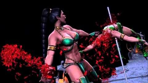 Mortal Kombat 9 Jade Fatality 1, 2, Stage and Babality (HD)
