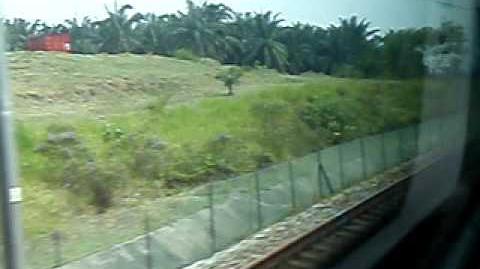 ERL KLIA Transit speeding through to Putrajaya Cyberjaya