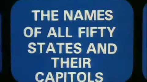 Wakko's America United States States & Capitals song