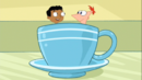 Baljeet and Phineas inside the tea cup.png