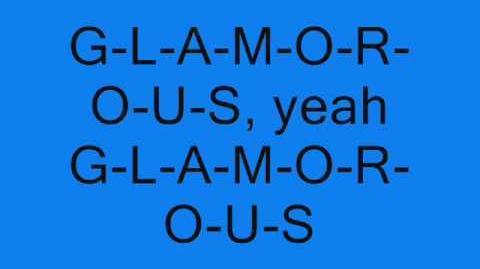 Fergie Ft. Ludacris - Glamorous Lyrics On Screen