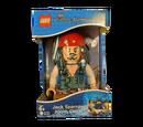 5000144 Pirates of the Caribbean Jack Sparrow Minifigure Clock