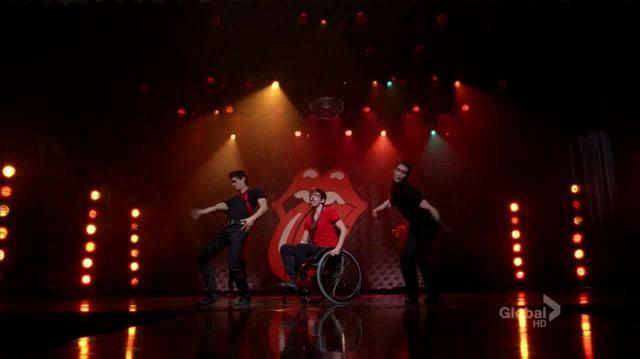 3x10 Glee Cast - Moves Like Jagger Jumpin' Jack Flash