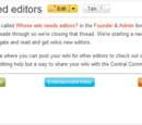 Building a community/Wikis that need editors archive