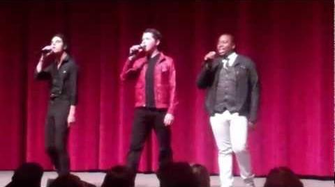 """Sing"" Alex Newell, Samuel Larsen & Damian McGinty - The Glee Project Panel"