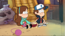 S1e3 dipper and mabel touching hands.png