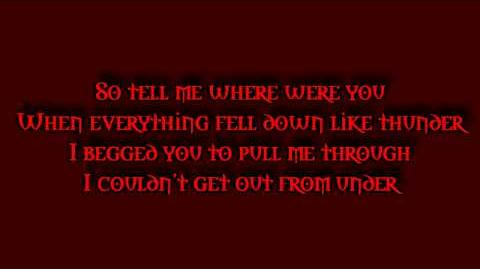 RED - Out From Under (lyrics)