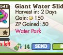 Giant Water Slide Tree