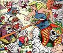 Aquaria Neptunia (Earth-616) battling Tut-Ak-Mun (Earth-616) and his army of mummies from Namora Vol 1 2.jpg