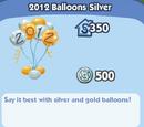 2012 Balloons Silver