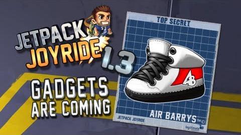 "Jetpack Joyride 1.3 - Gadgets Update ""Air Barrys"""