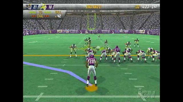 Madden NFL 08 PlayStation 2 Gameplay - Adrian Peterson's Superstar Runs