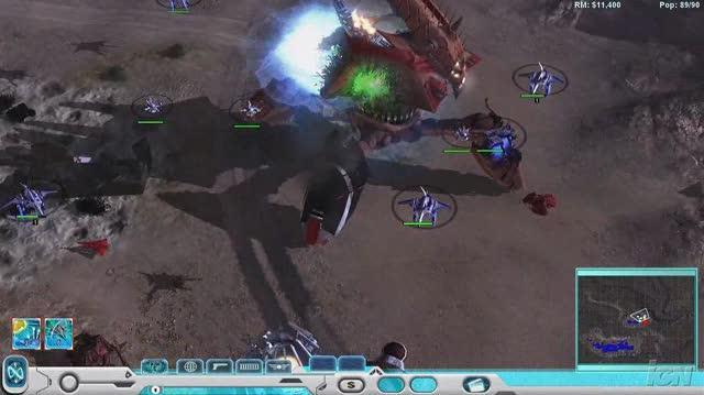 Universe at War Earth Assault PC Games Gameplay - Walker Destroyed (HD)