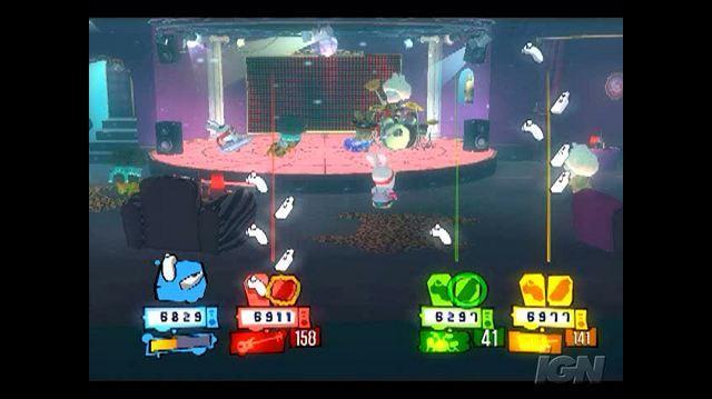 Rayman Raving Rabbids 2 Nintendo Wii Gameplay - Music Mini Funky Town