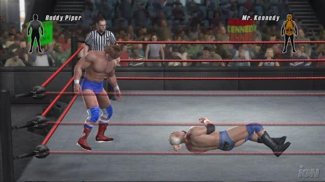 WWE SmackDown vs. Raw 2008 PlayStation 2 Gameplay - Roddy Piper Bar Brawler