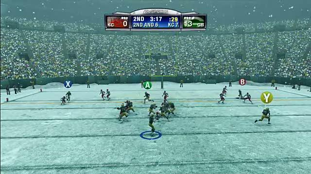 Madden NFL 09 Sports Gameplay - Lambeau Leap